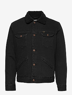 124WJ SHERPA - denim jackets - black washed