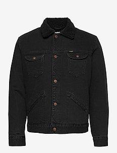 124WJ SHERPA - kurtki dżinsowe - black washed