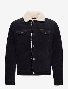 124WJ SHERPA - denim jackets - navy