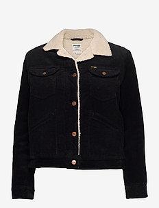 124WJ SHERPA JACKET - jeansjakker - black
