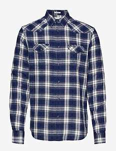 LS WESTERN SHIRT - BLUE DEPTHS