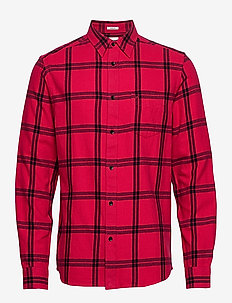 LS 1PKT SHIRT - rutede skjorter - crimson red