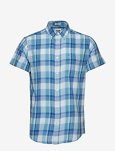 SS 1 PKT BUTTON DOWN - NIAGARA BLUE