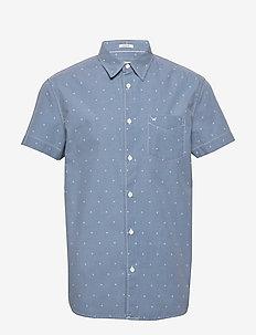 SS 1 PKT SHIRT - kortärmade skjortor - cerulean blue