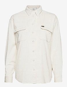 WINTER WHITE CORD SH - long-sleeved shirts - whisper white