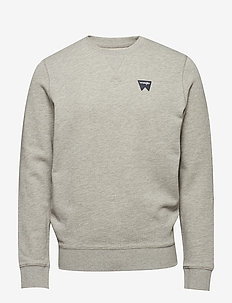 SIGN OFF SWEAT - basic sweatshirts - mid grey mel