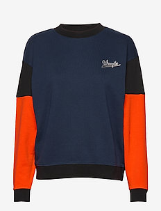 HIGH RIB RETRO SWEAT NAVY - NAVY