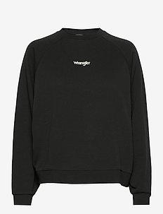 RETRO RAGLAN - swetry - faded black