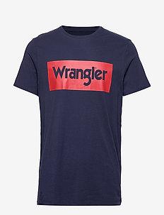 SS LOGO TEE - kortärmade t-shirts - navy