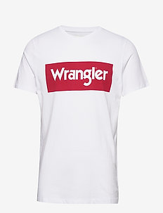 SS LOGO TEE - kortärmade t-shirts - white