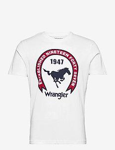 SS AMERICANA TEE - short-sleeved t-shirts - white