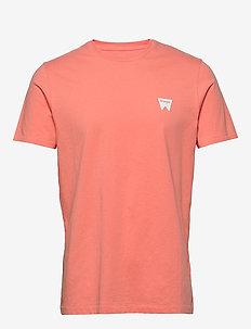 SS SIGN OFF TEE - basic t-shirts - melon orange