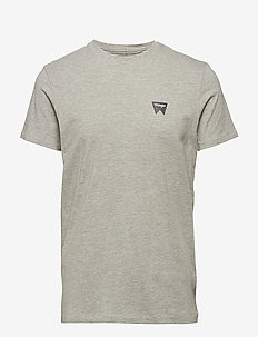 SIGN OFF TEE - MID GREY MEL