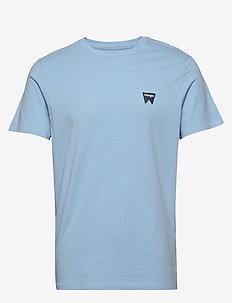 SS SIGN OFF TEE - basic t-shirts - cerulean blue