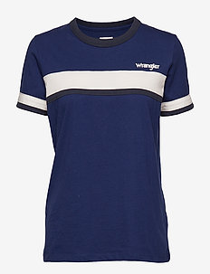 BAND STRIPE TEE - BLUE DEPTHS