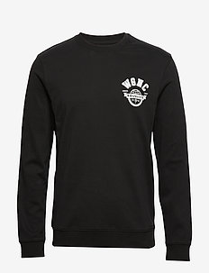 LS GLOBE TEE BLACK - basic sweatshirts - black
