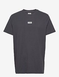 SS SMALL LOGO TEE - basic t-shirts - blue graphite