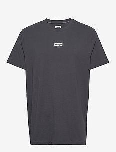 SS SMALL LOGO TEE - basic t-shirts - blue graphite