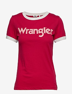 RINGER TEE - MAGENTA RED