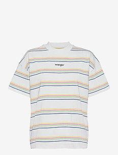 HIGH NECK GIRLFRIEND - t-shirts - white
