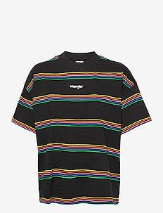 HIGH NECK GIRLFRIEND - t-shirts - worn black