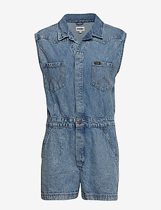 PLAYSUIT - jumpsuits - worn indigo