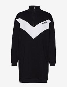 SWEAT DRESS - BLACK