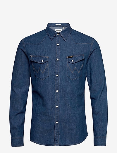 LS WESTERN SHIRT - basic skjortor - midstone