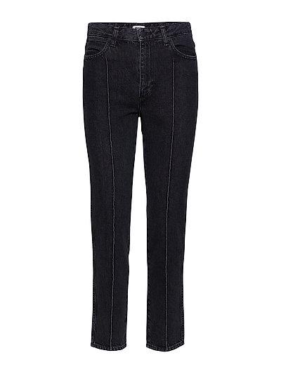 Retro Slim Straight Jeans Hose Mit Geradem Bein Schwarz WRANGLER