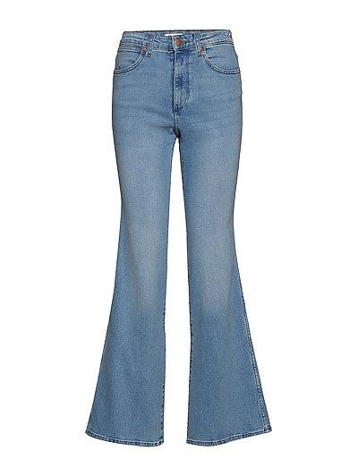 Retro Flare Jeans Mit Schlag Blau WRANGLER