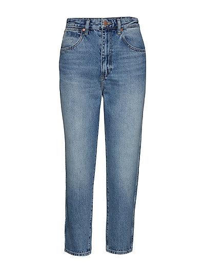Mom Jeans Straight Jeans Hose Mit Geradem Bein Blau WRANGLER
