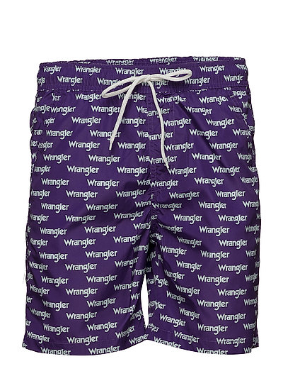 SWIM SHORT - TROPICAL PURPLE