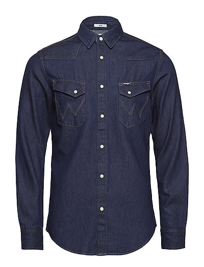 WESTERN DENIM SHIRT - DRY INDIGO