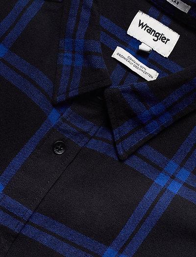 Wrangler Ls 1 Pkt Shirt Cobalt Blue- Koszule Blue