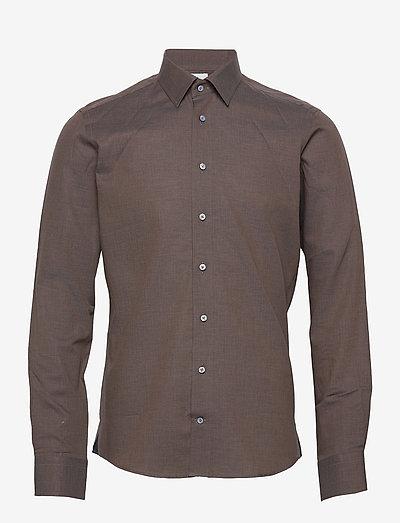 8859 X - Jake SC - basic skjorter - dark brown