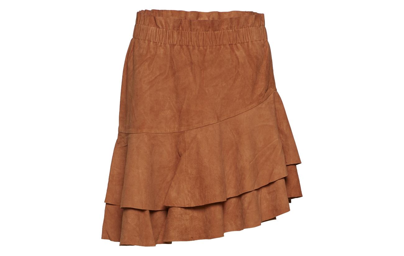 100 Yas Skirt Cuir Lamb Suede Yasxahira Umber qg6Unw1ZIg