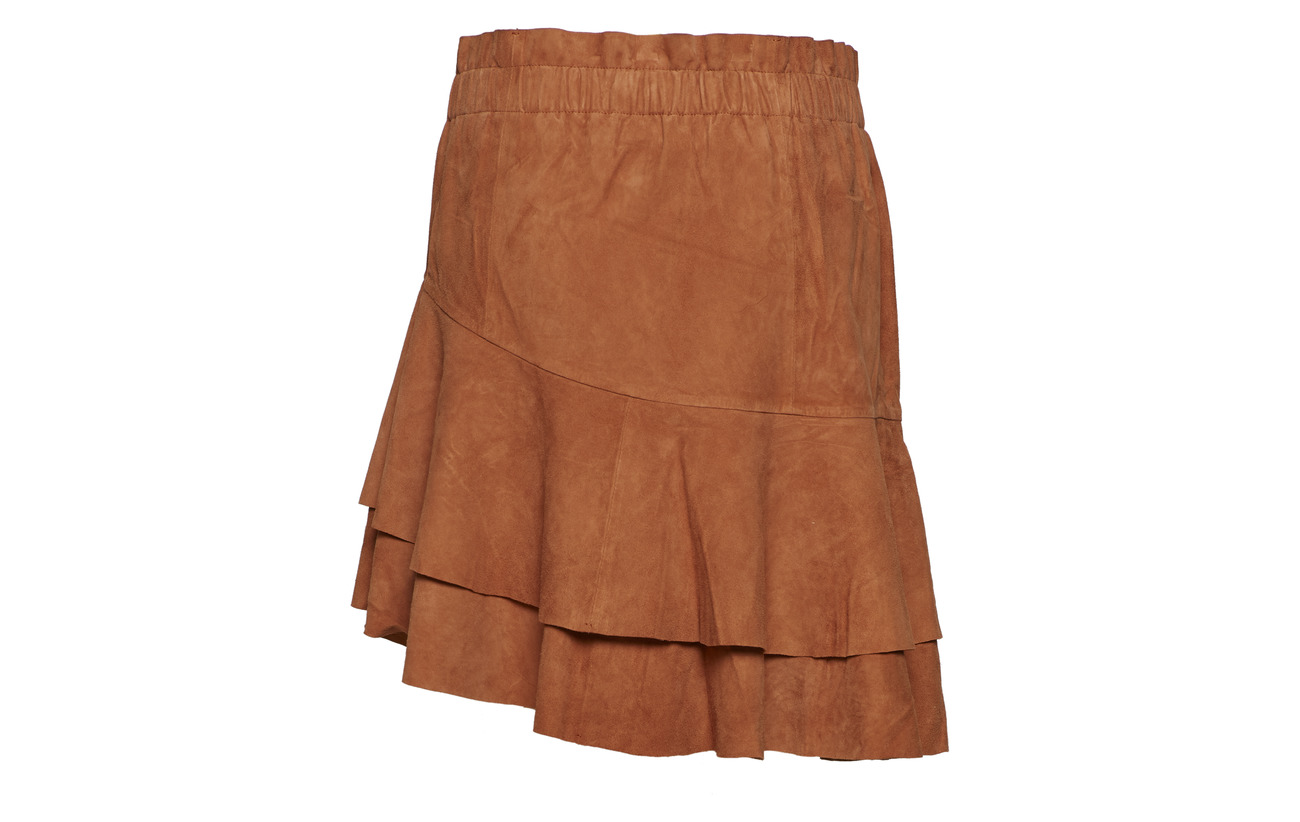 Lamb Yas Suede Yasxahira 100 Skirt Cuir Umber WwHYPAqTw