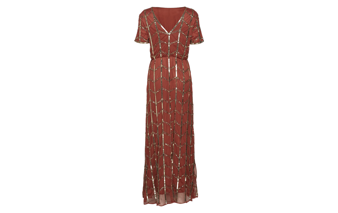 Dress Yasloris Da Polyamide Ankle Beaded 100 Yas Henna f8TgW