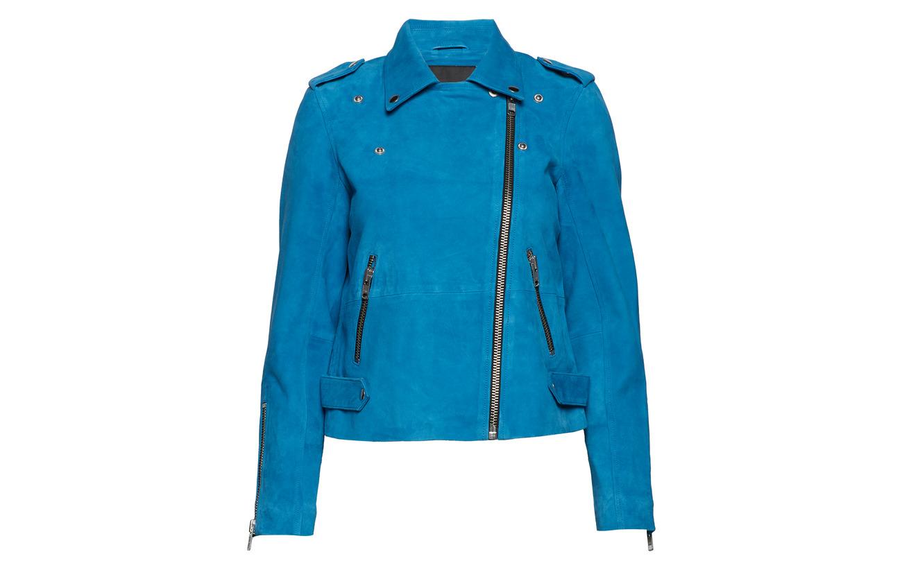 De Peau Blue Yas Yaswilera Suede Chèvre Jacket 100 Daim Mykonos Cuir afwaC0BqR