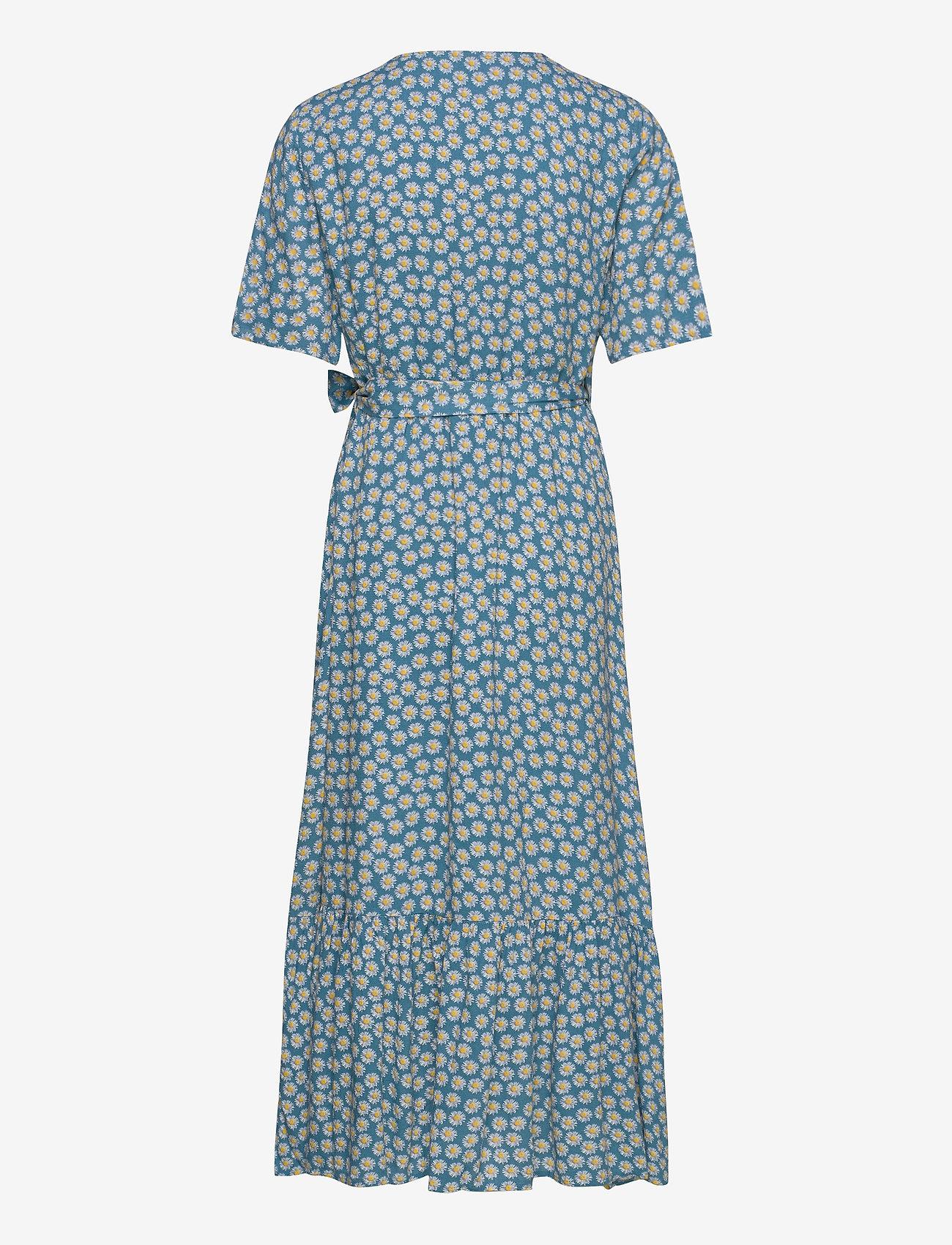 YAS - YASDAISY SS LONG DRESS - maxi dresses - blue heaven