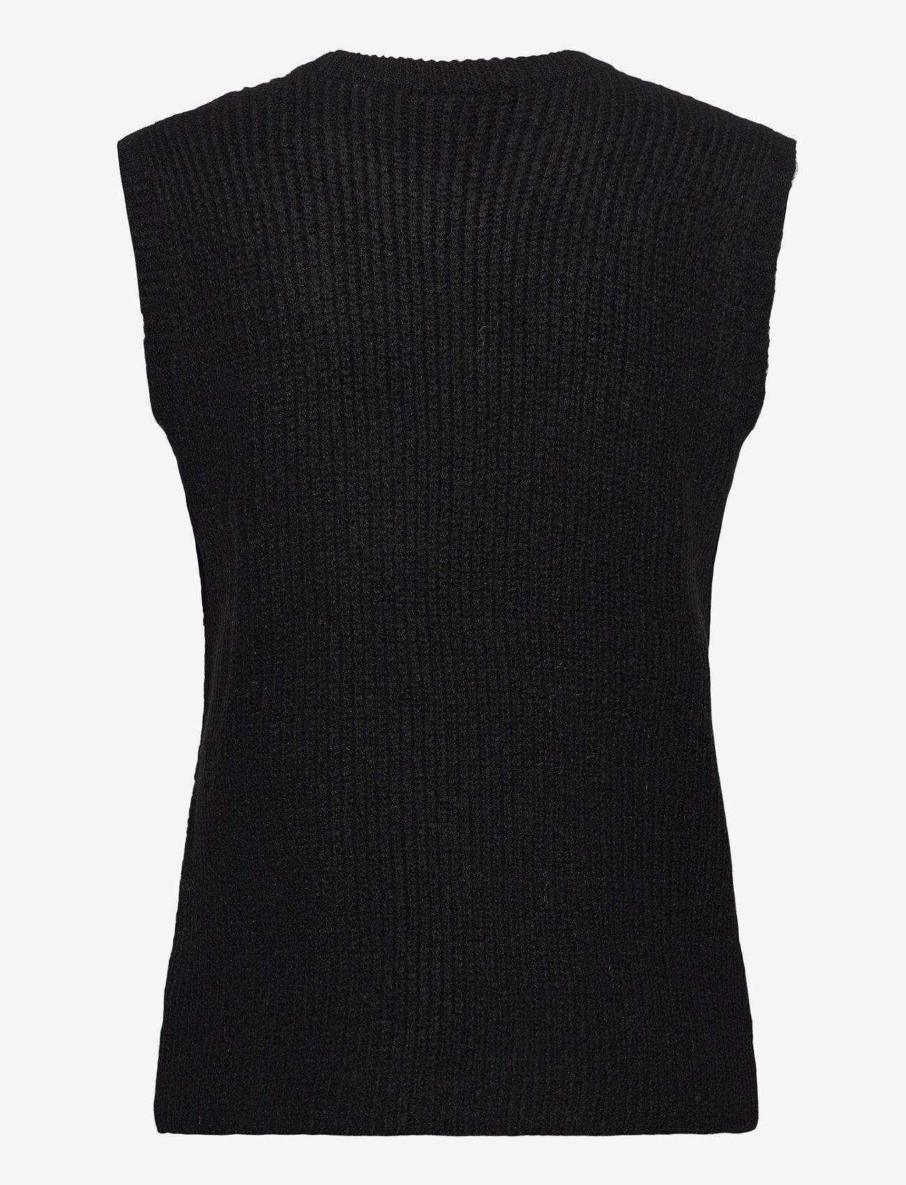 YAS - YASZAL WAISTCOAT D2D - knitted vests - black - 1