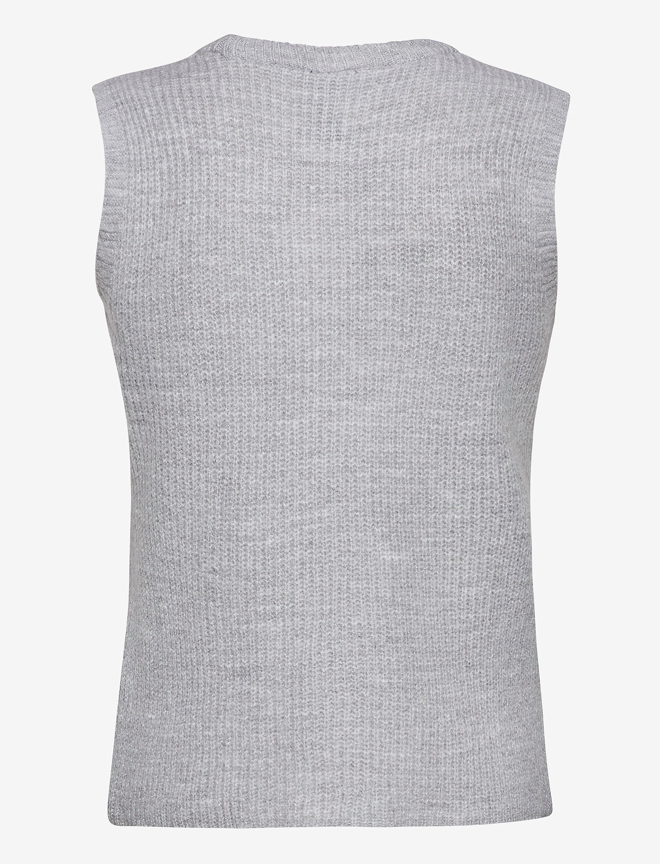 YAS - YASZAL WAISTCOAT D2D - knitted vests - light grey melange - 1