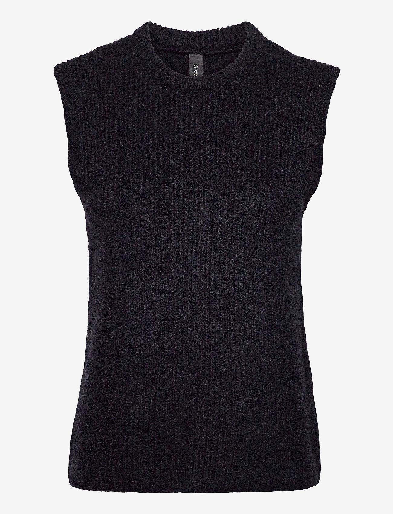 YAS - YASZAL WAISTCOAT D2D - knitted vests - sky captain - 0