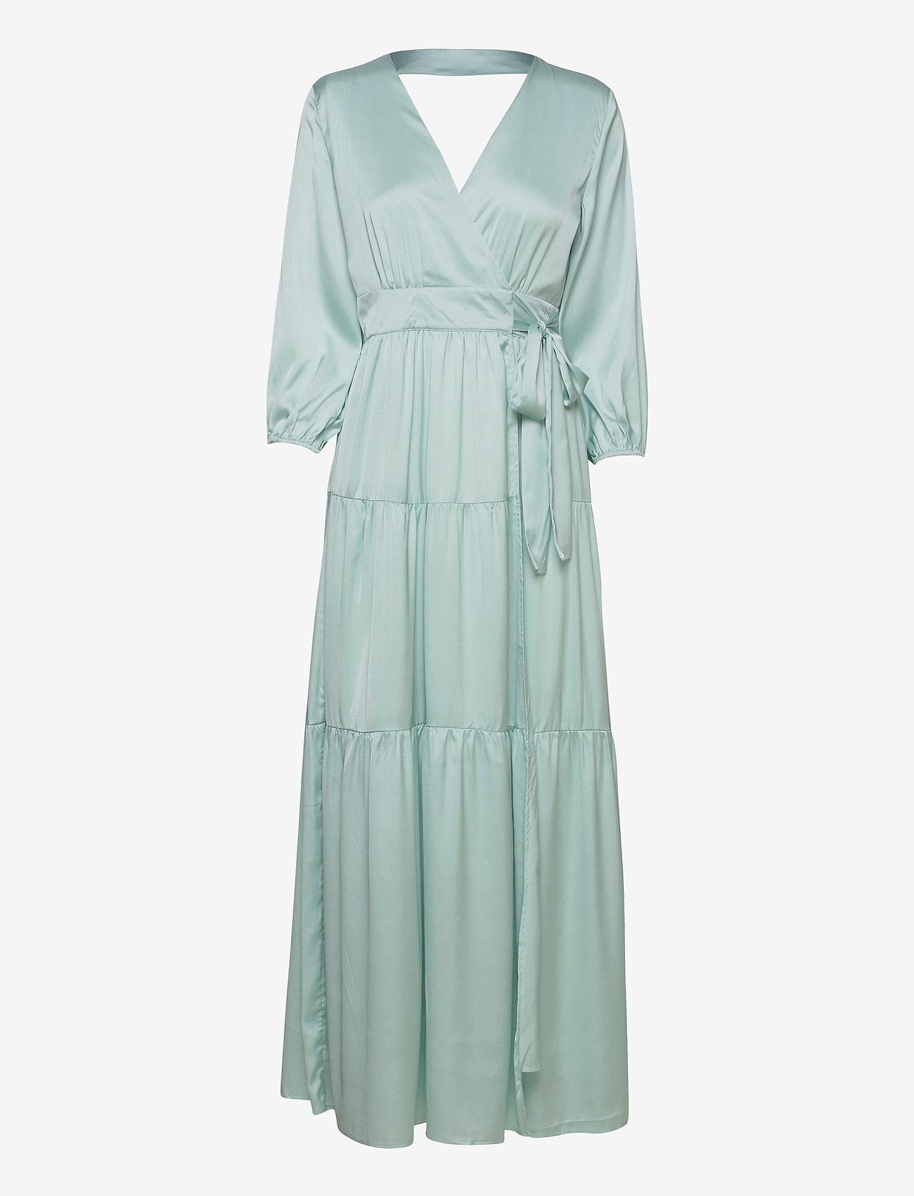 YAS - YASLUMEN WRAP 3/4 MAXI DRESS - SHOW - sommerkjoler - starlight blue - 0