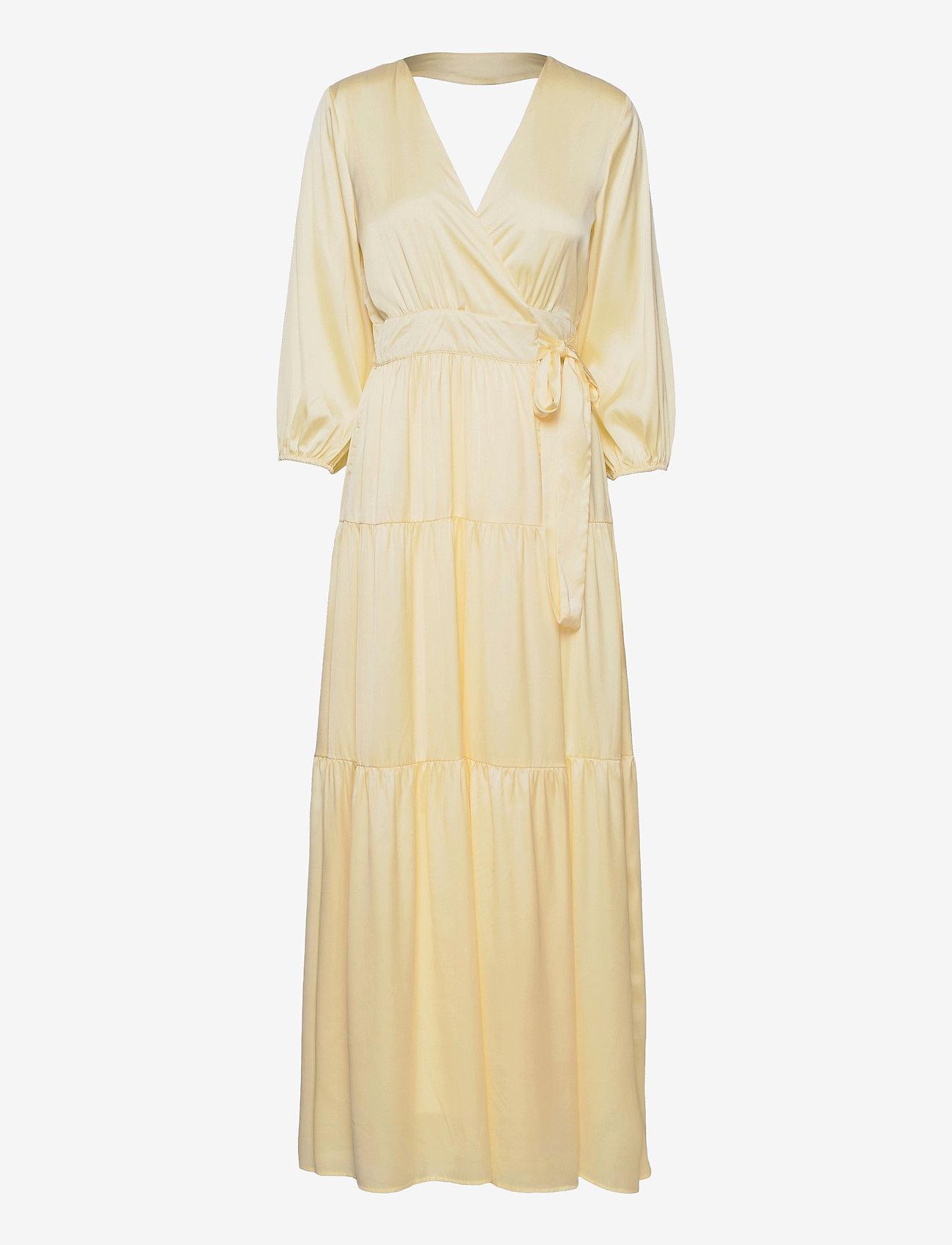 YAS - YASLUMEN WRAP 3/4 MAXI DRESS - SHOW - sommerkjoler - transparent yellow - 0