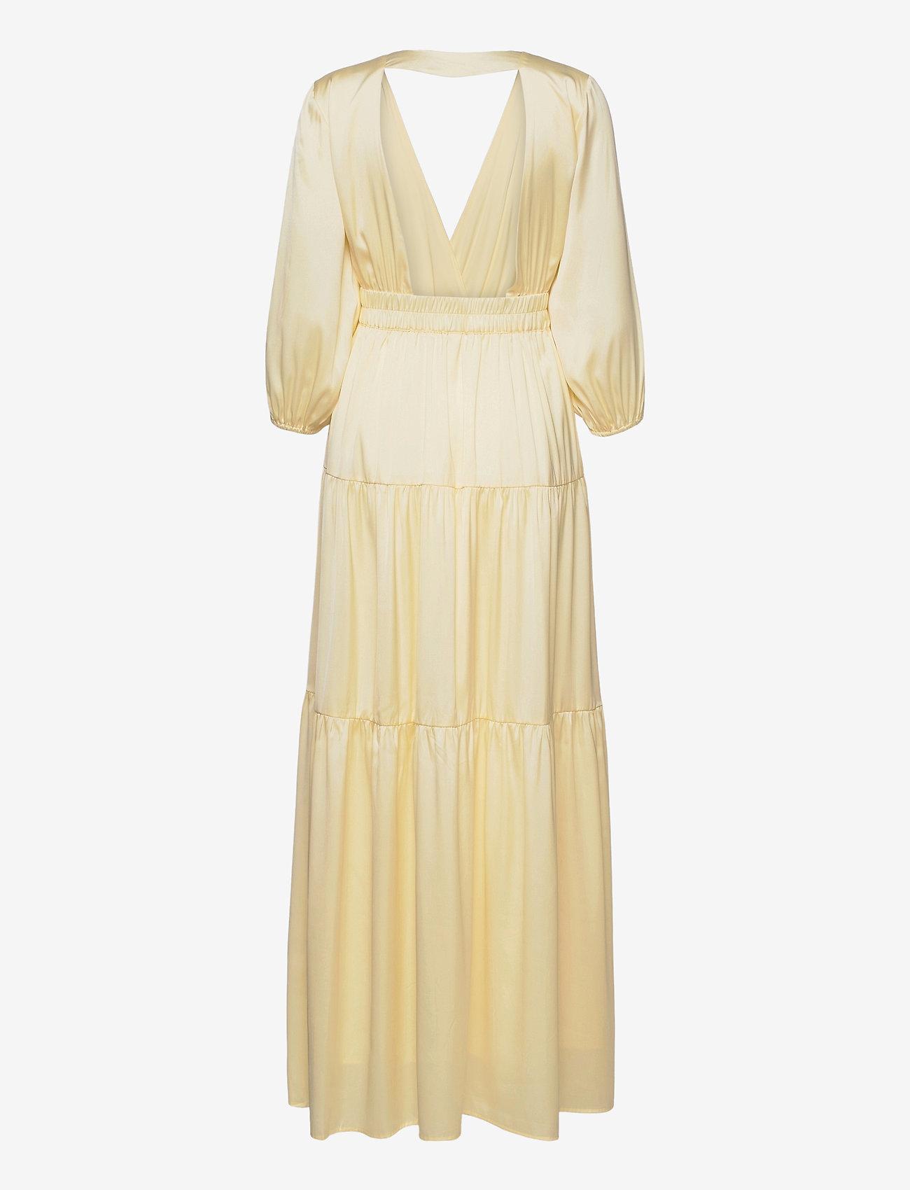 YAS - YASLUMEN WRAP 3/4 MAXI DRESS - SHOW - sommerkjoler - transparent yellow - 1