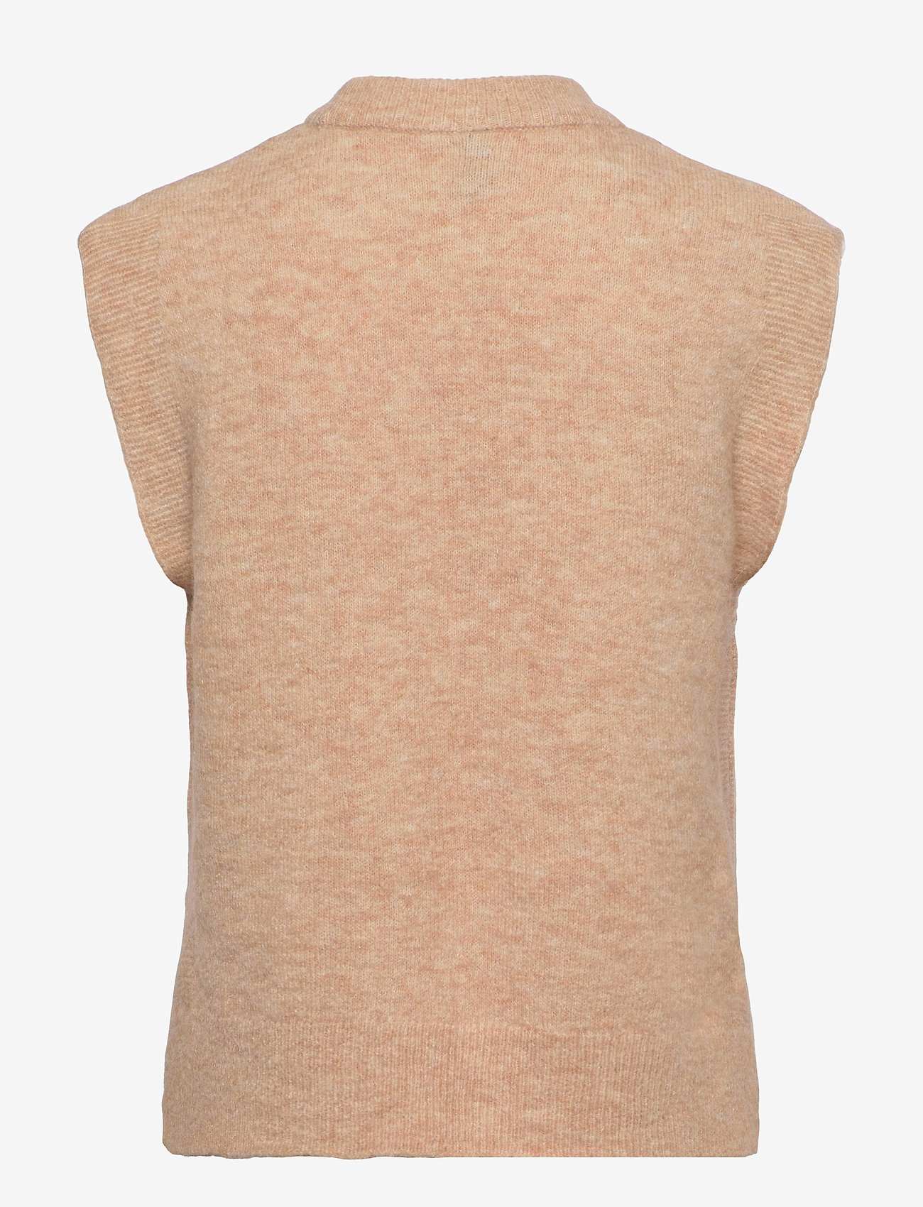 YAS - YASALVA KNIT VEST S. - knitted vests - cuban sand - 1