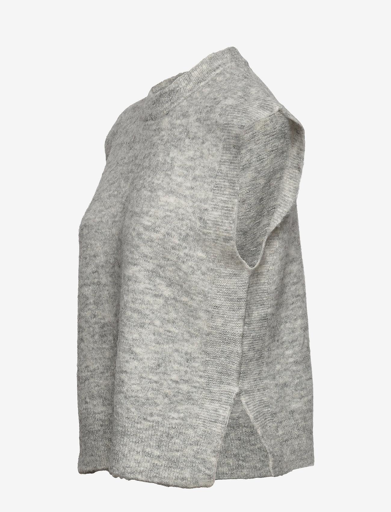YAS - YASALVA KNIT VEST S. - knitted vests - light grey melange - 2