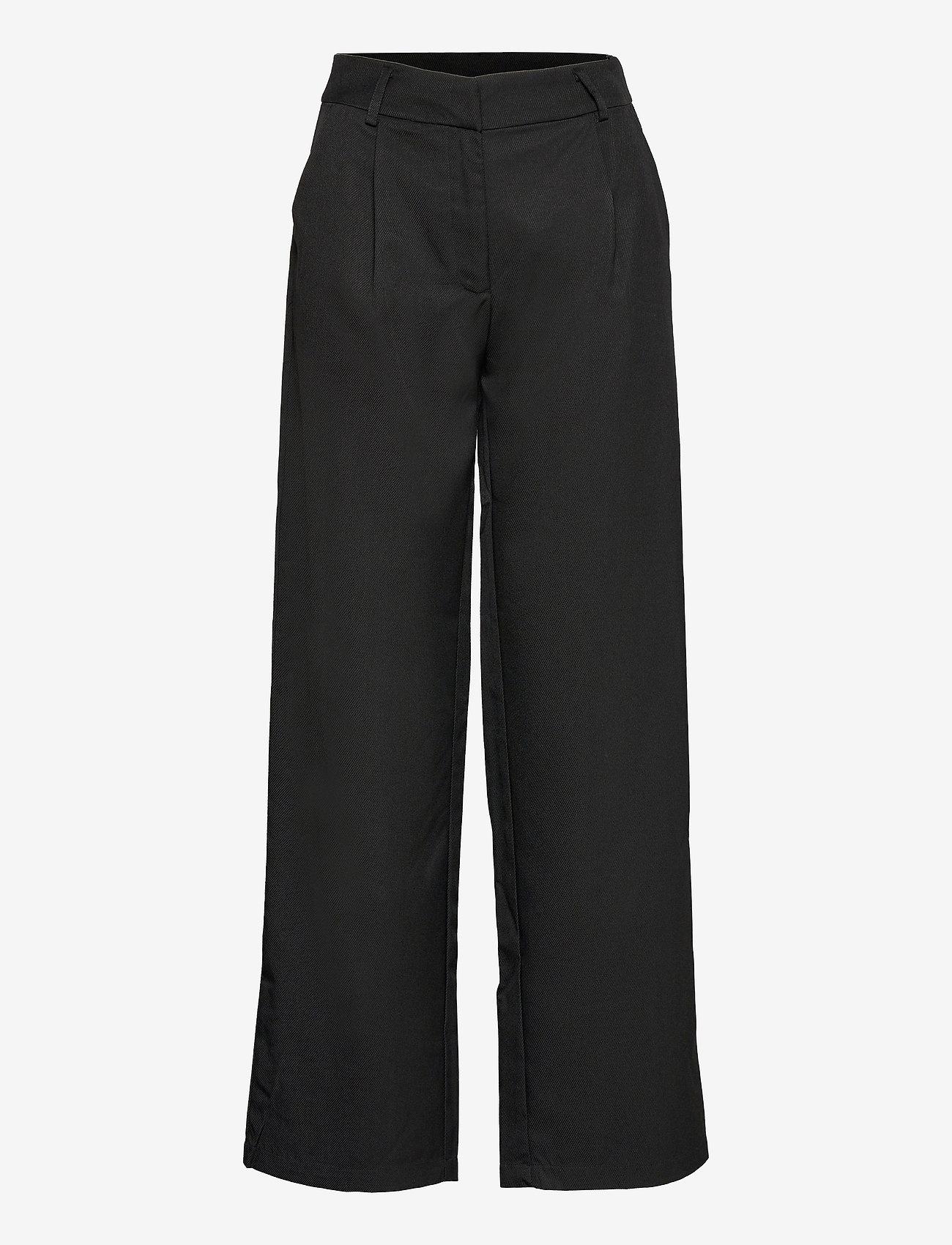 YAS - YASSERENA HW WIDE PANTS - CA - bukser med brede ben - black - 0