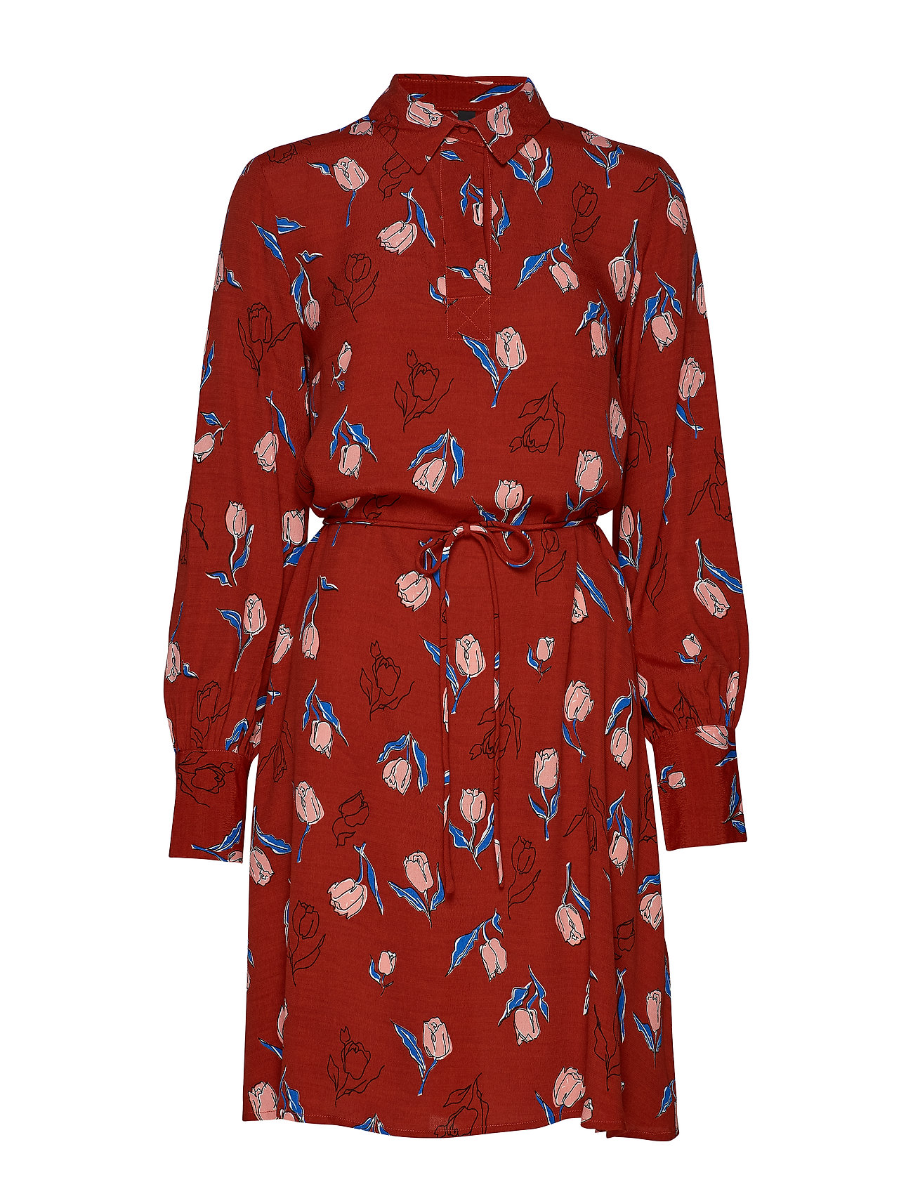 YAS YASELANOR LS SHIRT DRESS - ROOIBOS TEA
